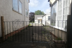 Gates at rear of cottage